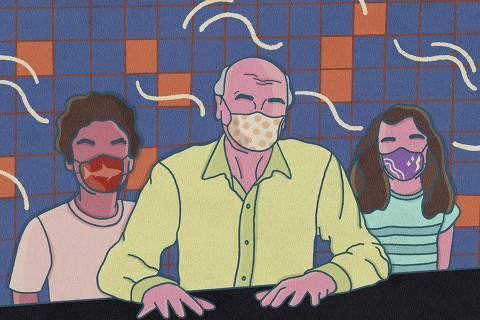 Drauzio fala sobre a importância da máscara, e crianças comentam o que já aprenderam sobre o assunto