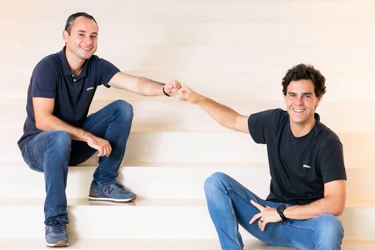 À esquerda, Thiago Maffra, diretor-executivo da XP que assumirá a gestão da companhia em 12 de maio e, à esquerda, o fundador da XP,  Guilherme Benchimol