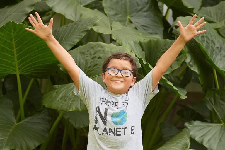 Francisco Vera Manzanares, 9, que discursou no Senado colombiano em favor de pautas ambientais