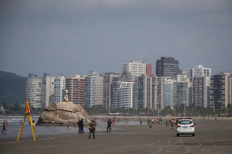 Praias do litoral paulista são interditadas