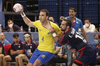 IHF Men's Handball Tokyo Olympic Games Qualification Tournament - Brazil v Chile