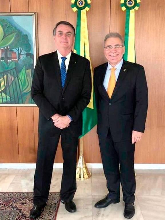 Foto mostra encontro entre Marcelo Queiroga e o presidente Jair Bolsonaro, em setembro de 2020