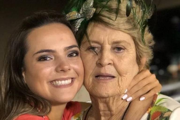 Dalva Junger e Luisa: neta decidiu compartilhar vídeos da avó materna que foi vítima da Covid-19