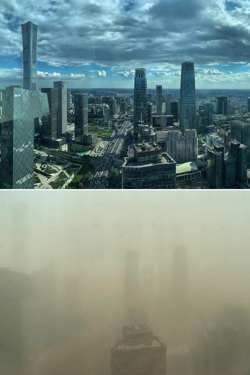 China tem pior tempestade de areia em uma década