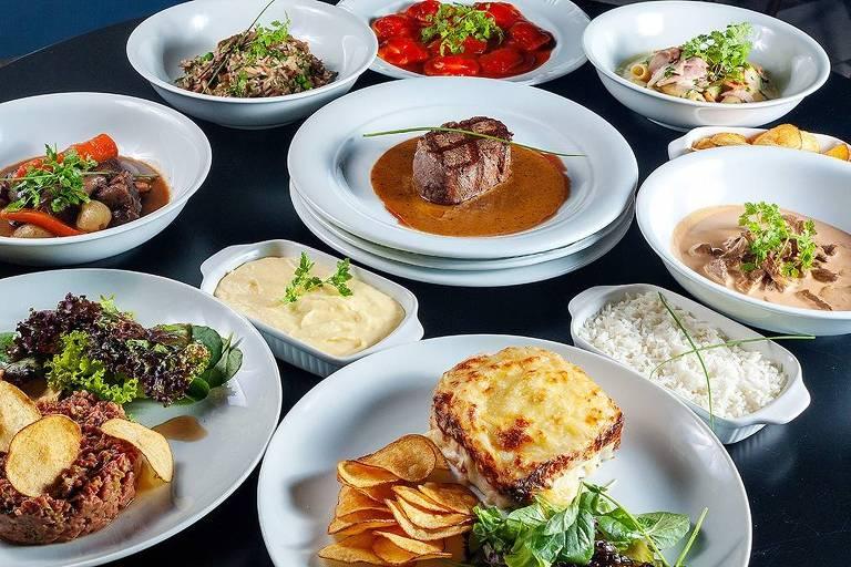 Pratos do menu do Jojô Gastrô, dark kitchen do chef Erick Jacquin