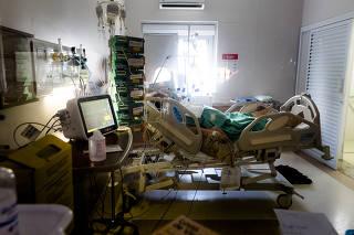 Paciente na UTI em Hospital de Araraquara