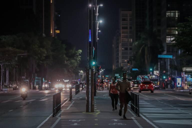 Início do toque de recolher em São Paulo