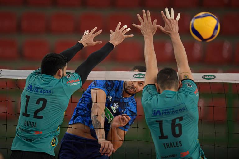 Sada Cruzeiro x Vôlei Um/Itapetininga pelas quartas de final da Superliga