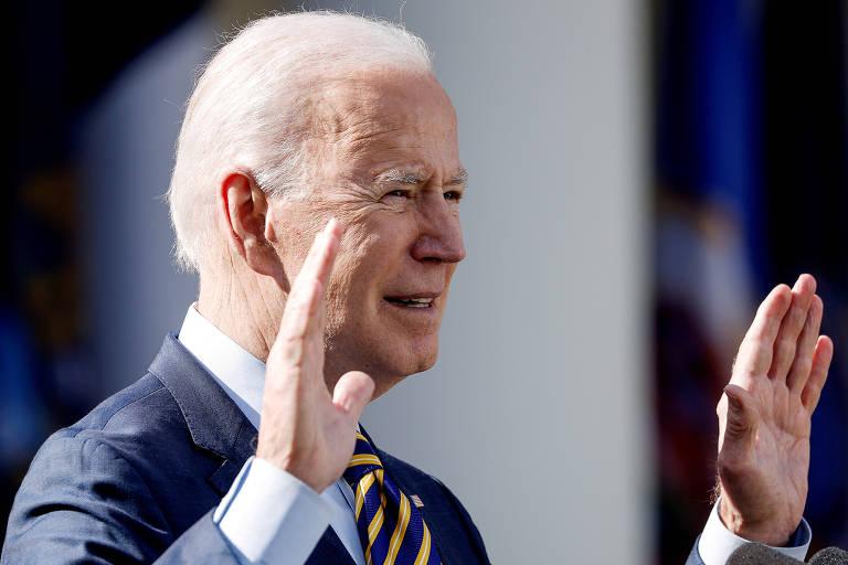 O presidente dos EUA, Joe Biden, discursa na Casa Branca, em Washington