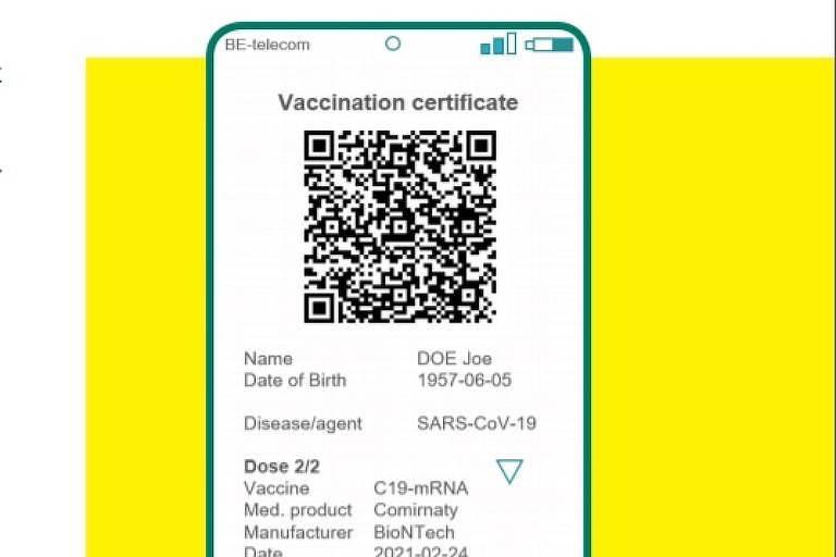 Tela de celular com QR code