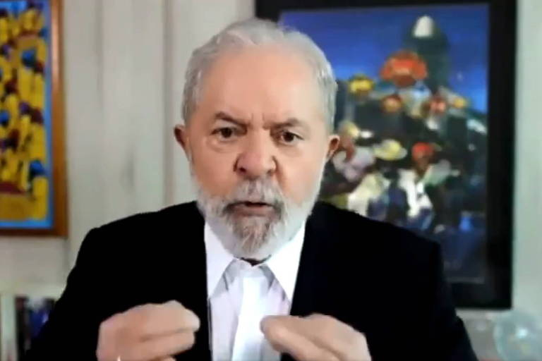 O ex-presidente Lula durante entrevista à CNN Internacional