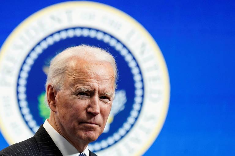 O presidente Joe Biden durante reunião na Casa Branca, em Washington