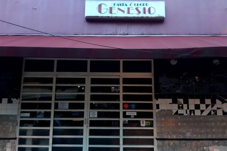 Fachada do Genésio Bar, que fechou as portas