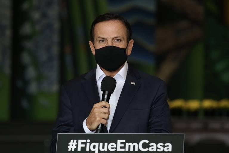 O governador João Doria em 2021