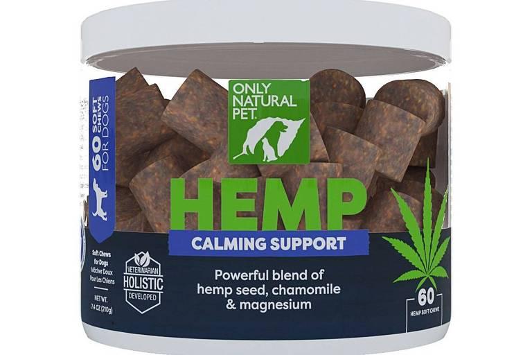 Tabletes mastigáveis com canabis da marca Only Natural Pet