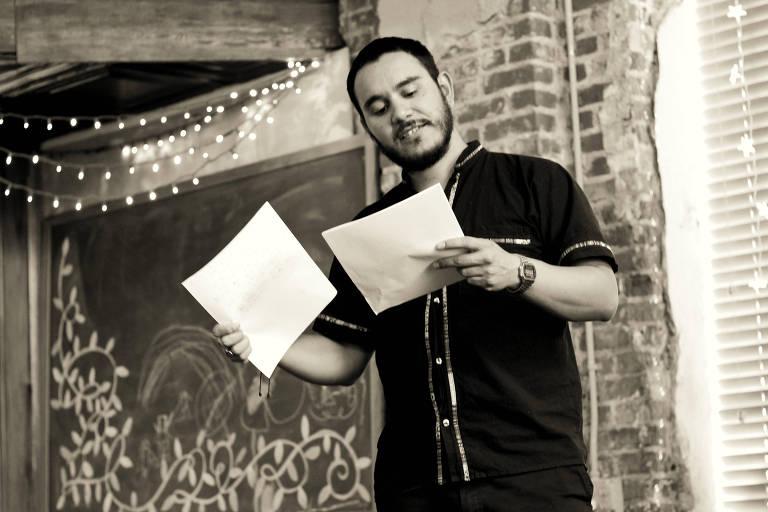 O escritor Ignacio Carvajal