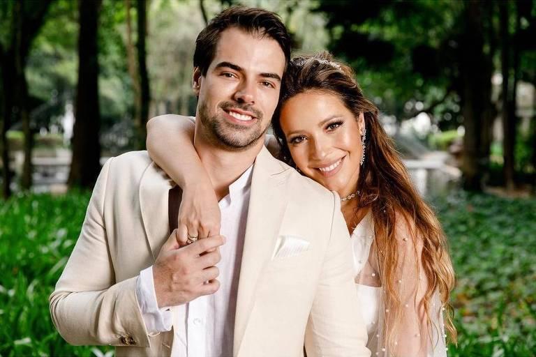 Renata Dominguez se casa com o empresário Leandro Gléria