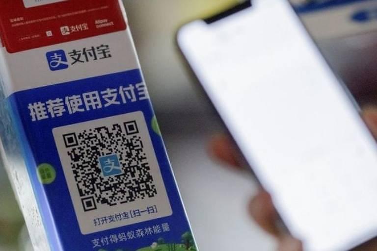 O serviço de pagamento digital Alipay é amplamente utilizado na China