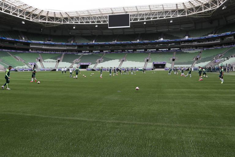 Devido à pandemia, os estádios, como o Allianz Parque, seguem sem torcida, mas o número de jogos também deveria diminuir