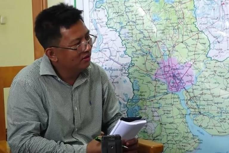 Aung Thura, jornalista da BBC que foi detido em Mianmar
