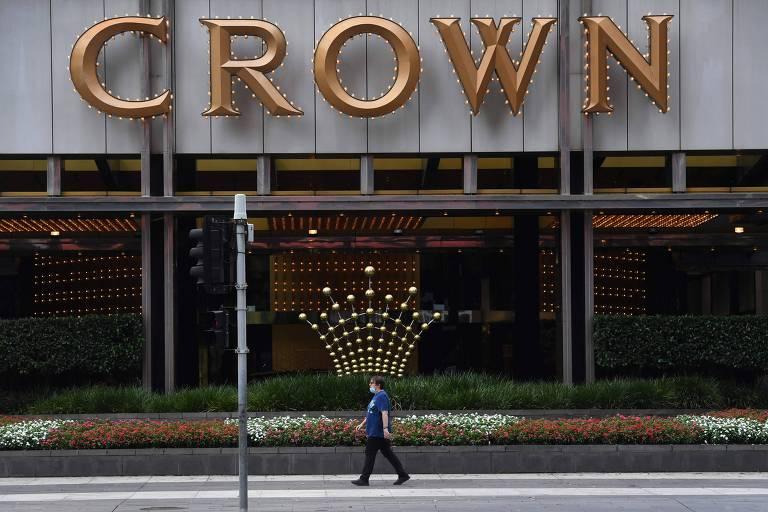 Fachada do Crown Casino em Melbourne, na Austrália; Blackstone ofereceu US$ 6,2 bilhões pela operadora de cassinos australiana