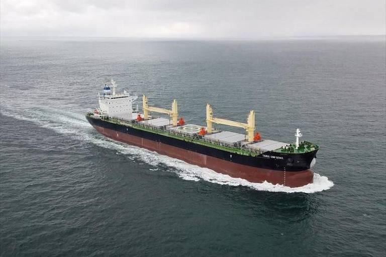 O navio Taurus Confidence, que chegou à Islândia com parte da tripulação infectada com o coronavírus
