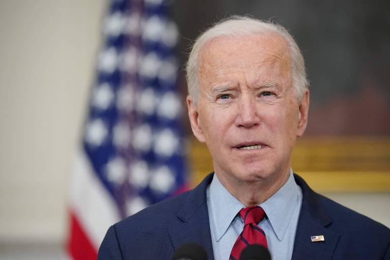 O presidente americano, Joe Biden, faz pronunciamento na Casa Branco após ataque a tiros que matou ao menos dez pessoas no Colorado