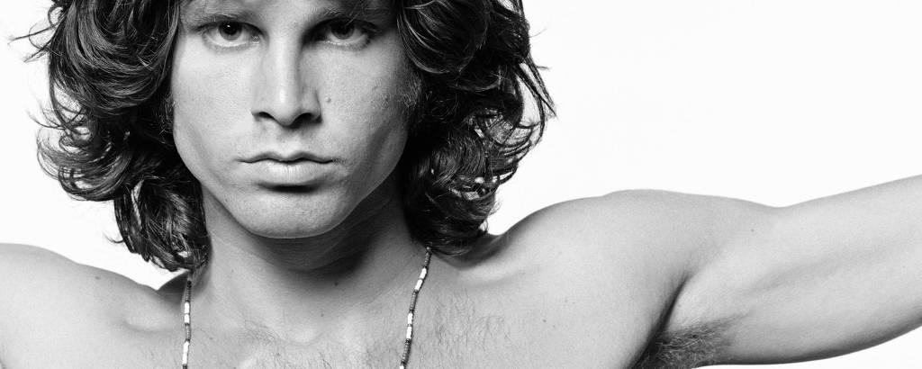 Retrato do cantor Jim Morrison