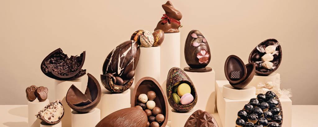 Produção com ovos de Páscoa
