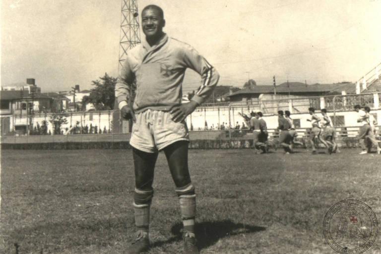 Barbosa em 1958, durante sua segunda passagem pelo Vasco, ano em que conquistou um estadual e o Rio-São Paulo