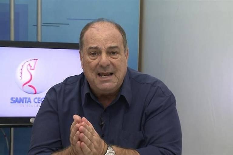 Edson Callegares comandou por mais de duas décadas o programa Baixada Esporte, da Santa Cecília TV
