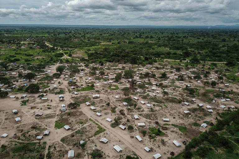 Campo para deslocados internos no distrito de Tara Tara, no norte de Moçambique