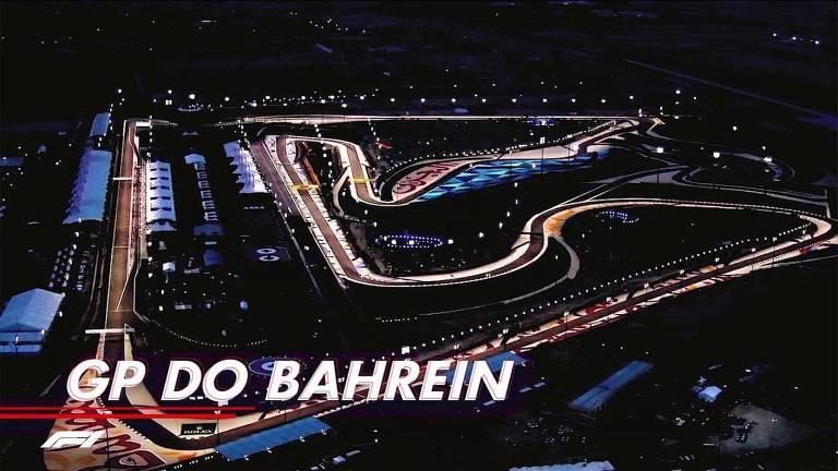 Imagem de divulgação do GP do Bahrein, temporada 2021 da FÓRMULA 1