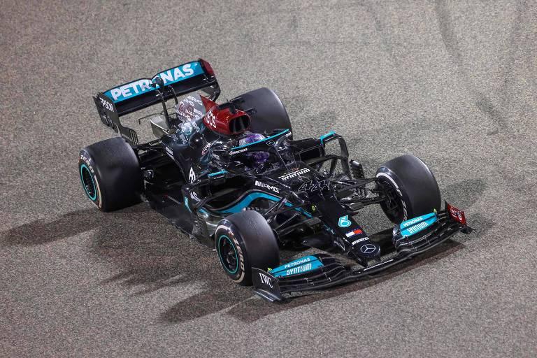 Hamilton, da Mercedes, vence o GP do Bahrein