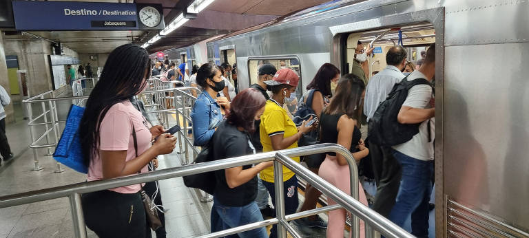 Movimentação do transporte público na capital paulista