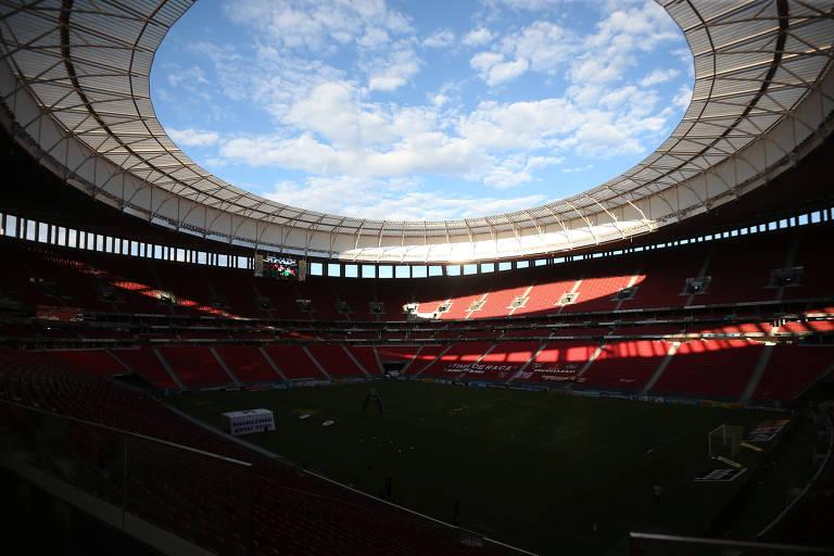 Estádio Mané Garrincha, em Brasília, receberá maratona de jogos nos próximos dias