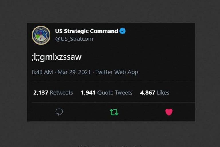 Criança tuita por engano na conta do comando das armas nucleares dos EUA