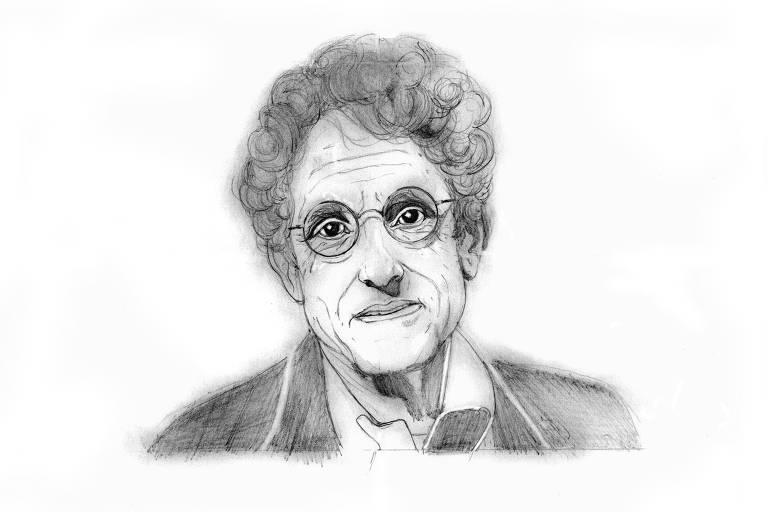 Homenagem do ilustrador Luciano Salles a Contardo Calligaris, publicada no espaço de sua coluna na Ilustrada de quinta (1º)