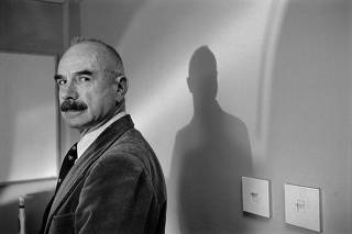 G. Gordon Liddy, the former FBI agent and Nixon loyalist who helped engineer the Watergate break-in, June 12, 1992. (Paul Hosefros/The New York Times)