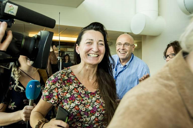 A neurocientista norueguesa May-Britt Moser, que recebeu o prêmio Nobel de Fisiologia ou Medicina em 2014.