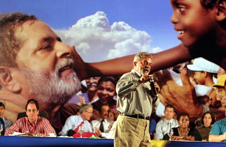 Luiz Inácio Lula da Silva na campanha eleitoral de 2006