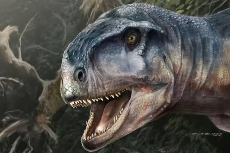 Crânio de dinossauro amedrontador é encontrado na Patagônia
