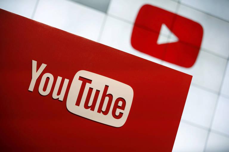 Logo da plataforma de vídeos YouTube