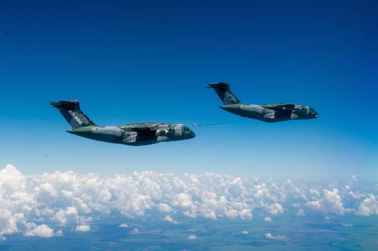 Embraer obtém qualificação de reabastecimento em voo entre duas aeronaves KC-390 Millennium