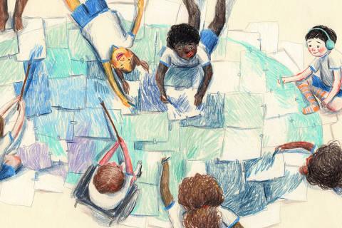Imagem do livro 'Menino Baleia', de Lulu Lima