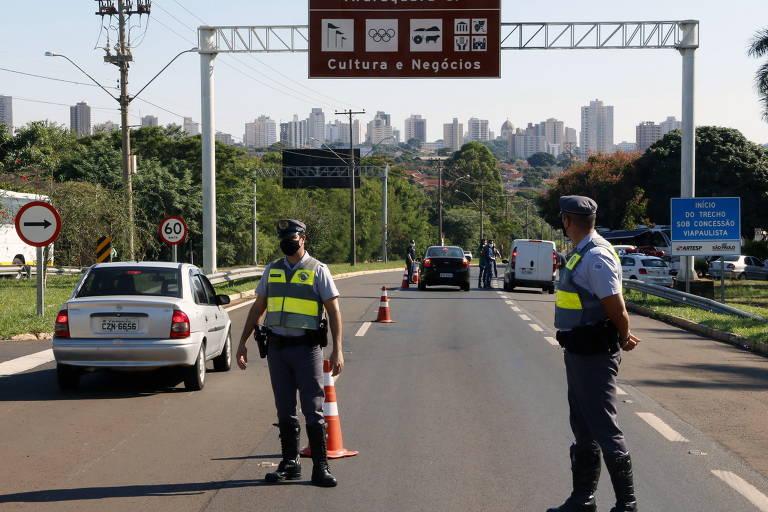 Araraquara implanta barreiras sanitárias para tentar conter avanço de casos de Covid-19