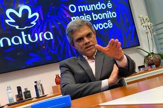 FILE PHOTO: Natura's CEO Joao Paulo Ferreira attends an interview with Reuters in Sao Paulo