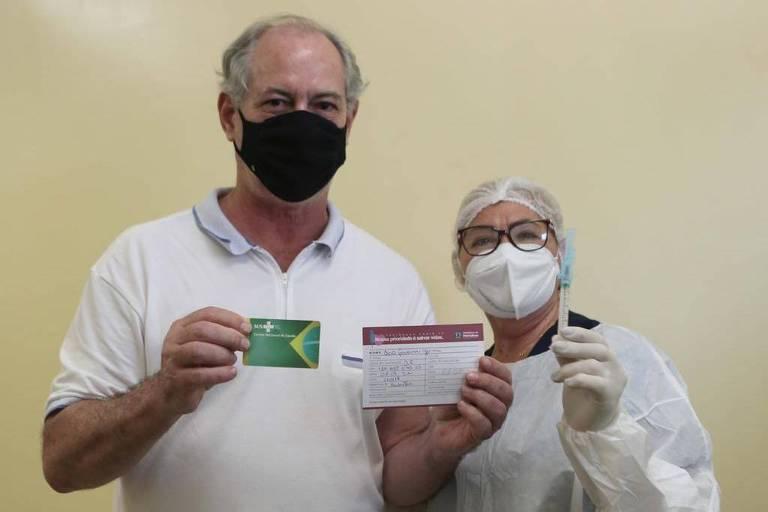 Falta de vacinas adia imunização de Ciro Gomes no Ceará