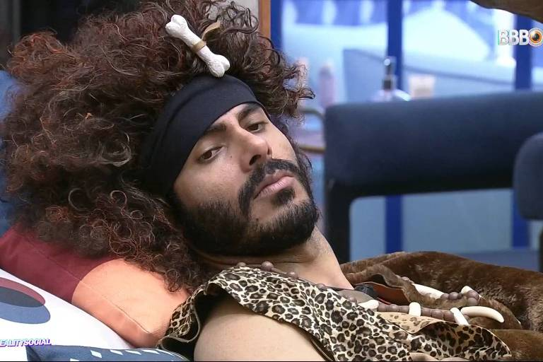 Rodolffo com fantasia do Monstro no BBB 21