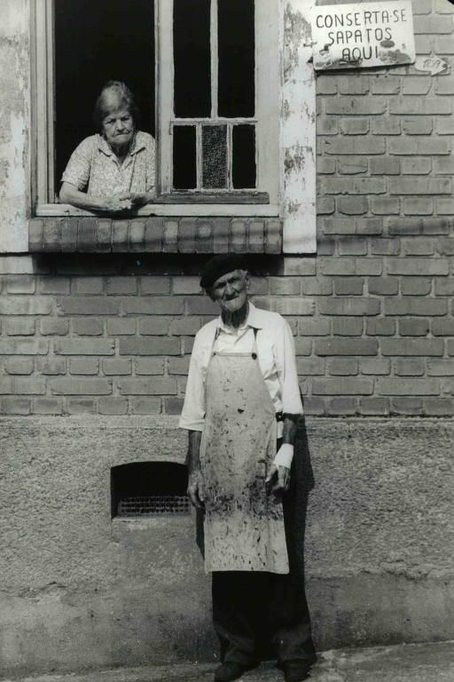 O sapateiro José Pinha e sua esposa Dona Rosália